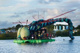 The floating stage at SGP