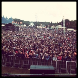 The crowd at the main stage Sunday