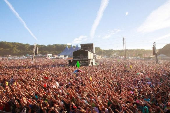 The view from Bestival Main Stage 2012
